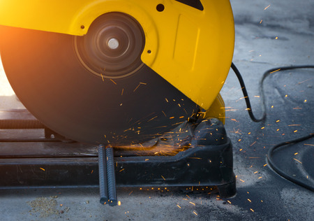 cutting tools: Cutbacks in the steel industry - steel cutting tools are required for the steel industry. Stock Photo