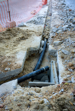 penetrate: Plumbing Repair, plumbing work which must penetrate concrete walls, Urban plumbing