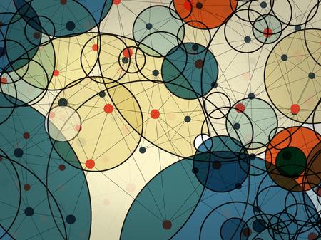 abstract vector achtergrond van de cirkel technologie concept