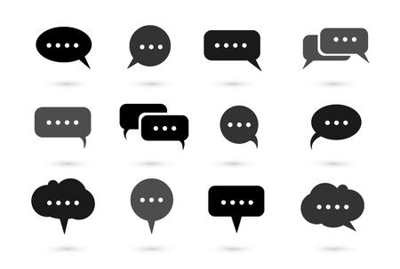 callout: Speech bubble icons vector, bubble text, bubble callout
