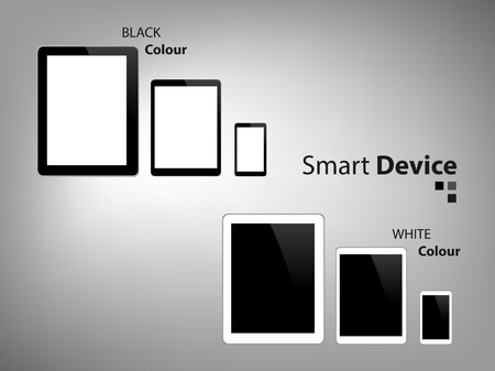 iphon: Smart Device Tablet and smart phone Vector