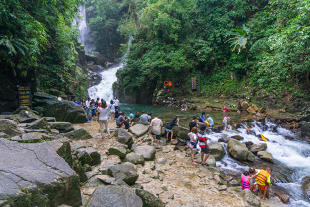 namtok: CHANTHABURI, THAILAND- SEPTEMBER 9, 2016: Namtok Phlio National park, the top of favorite waterfall in thailand, most famous tourist place of the eastern area on SEPTEMBER 9, 2016 in Chanthaburi, Thailand Editorial