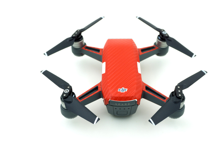BANGKOK , THAILAND - JULY 29 , 2017 : DJI Spark drone start sell in Thailand, Spark is a mini drone from DJI. Editorial