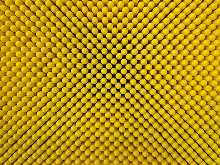 Abstract dots background in yellow colors. Yellow is the color of sunshine. Its associated with joy, happiness, intellect, and energy. produces a warming effect, arouses cheerfulness, stimulates mental activity, and generates muscle energy.  is often ass Stock Photo