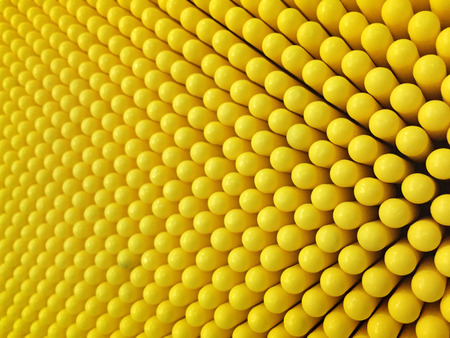 Abstract dots background in yellow colors. Yellow is the color of sunshine. It's associated with joy, happiness, intellect, and energy. produces a warming effect, arouses cheerfulness, stimulates mental activity, and generates muscle energy.  is often ass Banco de Imagens - 84468346