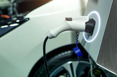 EV fuel Plug Charger technology for electric vehicle hybrid car.