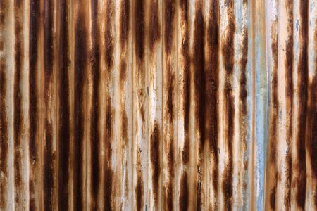 Zinced steel with rust stripes color background