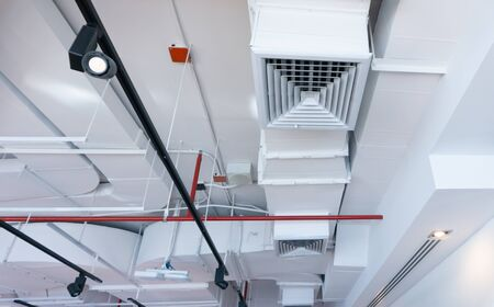 Ceiling air conditioning system Of tall buildings in the city