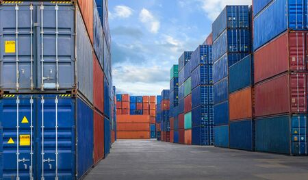 Container yard in the business of import-export industry