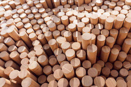 Abstract stacked wood log background for your environment design.