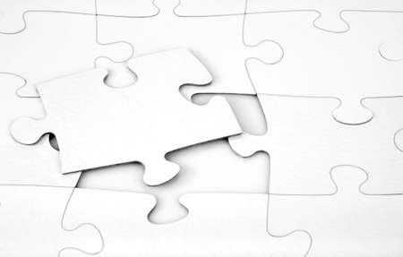 graphicals: White Puzzle Stock Photo
