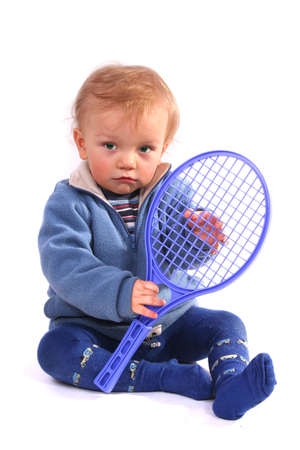 First lesson of tennis photo