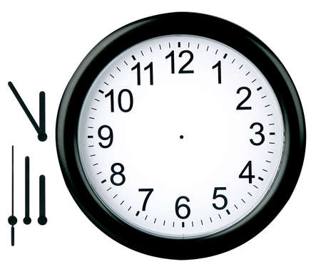 punctuality: Round clock isolated