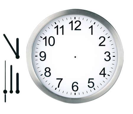 分離された丸い時計