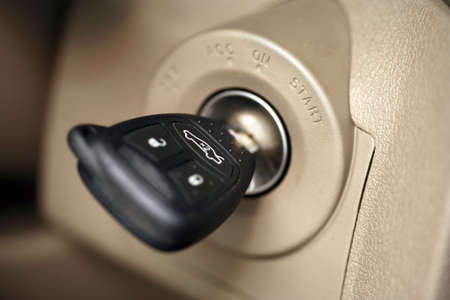 turn away: Car key Stock Photo