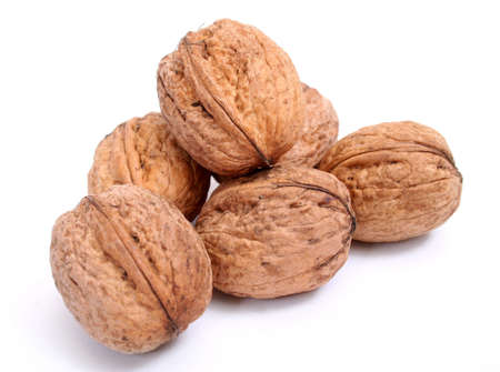 Walnuts in isolated white photo