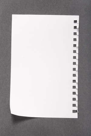 白紙のメモ