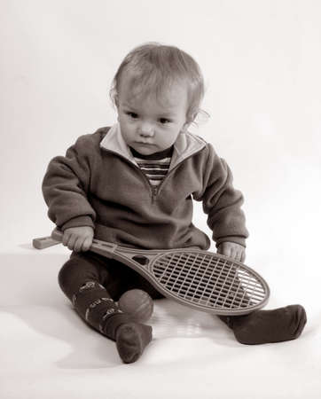 First lesson of tennis Stock Photo - 3839453