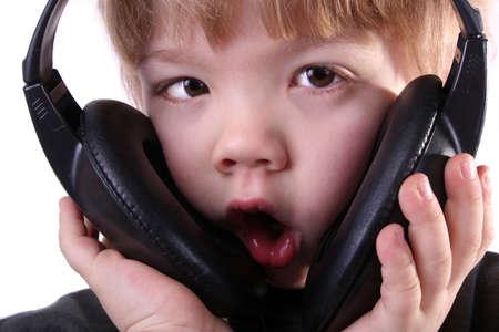inebriation: Boy listening music