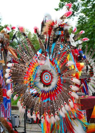 American Native dancer Standard-Bild