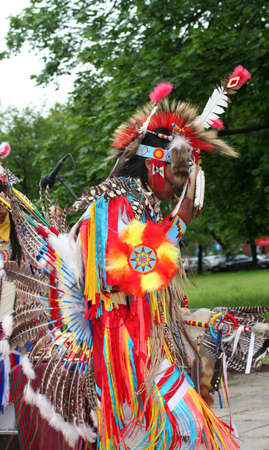 cherokee: American Native dancer Stock Photo