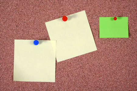 memorise: Post-it Notes On A Cork Board