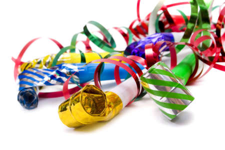blowers: Party blowers and paper streamers