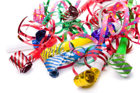 Party blowers and paper streamers