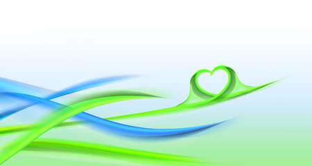 bluegreen: Fresh leafs blue-green - waves background Stock Photo