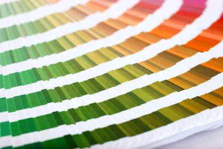 color match: Color guide to match colors for printing Stock Photo