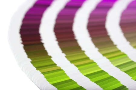 Color guide to match colors for printing Stock Photo