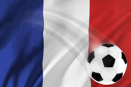 Soccer ball and french flag photo
