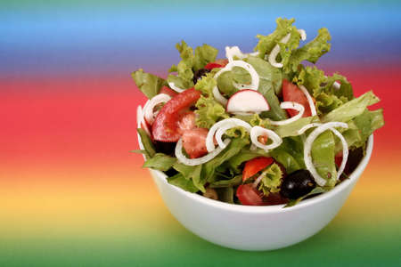Tossed green salad, with tomatoes Stock Photo - 3128228