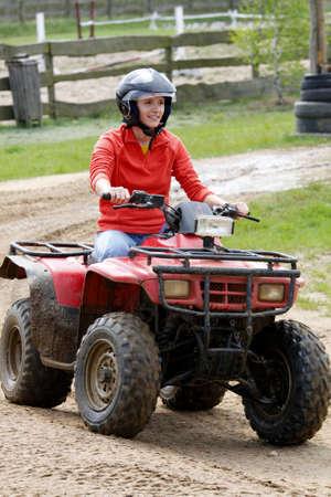 girl in quad Standard-Bild