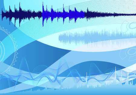 spectrum analyzer, abstract background photo