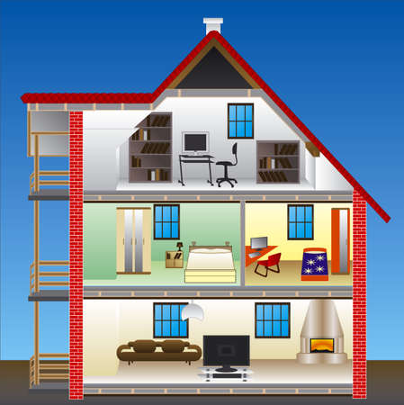 vector house