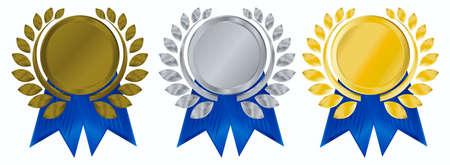 vector gold, silver and bronze award ribbons Stock Photo - 3816265