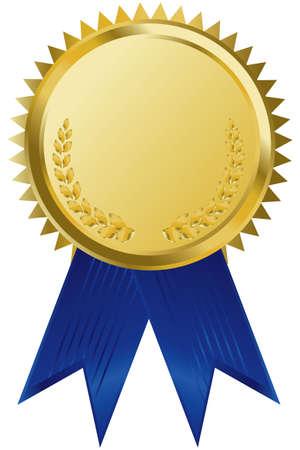 accolade: gold award ribbons