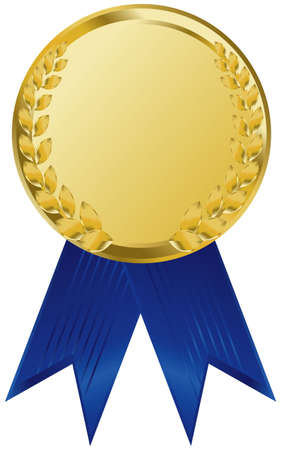 acknowledgement: gold award ribbons