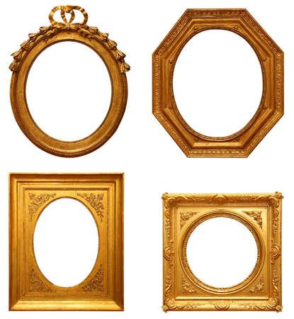 4 つの旧式な額縁 写真素材