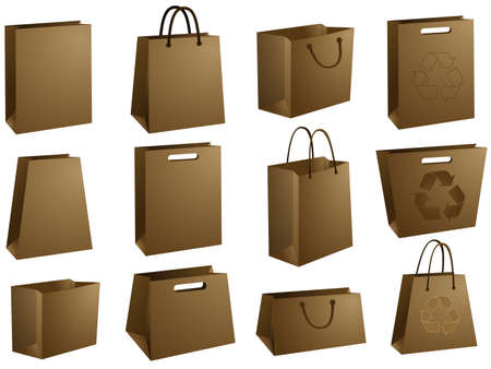 bargaining: Blank shopping bags