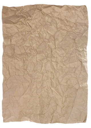 yellowish: Old paper - crumple parchment paper texture background Stock Photo