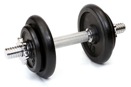 Weights, isolated on white background close up Standard-Bild