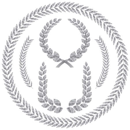 laurel wreath. This image is a vector illustration