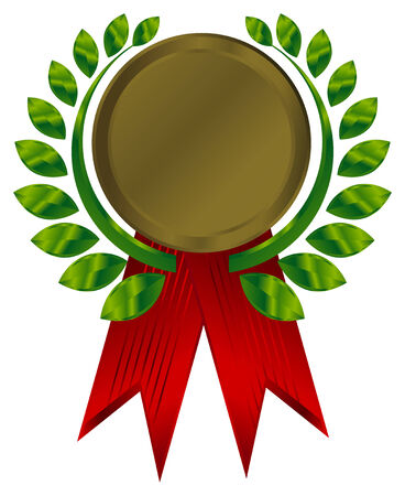 award ribbons. This image is a vector illustration and can be scaled to any size without loss of resolution.