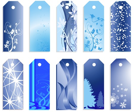 Christmas banners or price tags in vector design Illustration