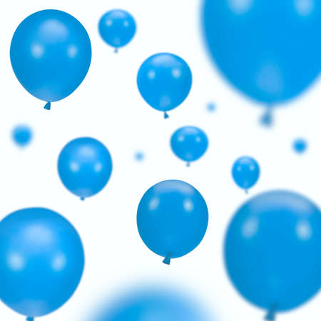gaiety: Background of blue party balloons on white
