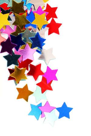 Multi coloured stars in the form of confetti