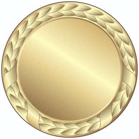 Goldmedaille - dieses Bild ist eine Vektor-Illustration und kann auf jede beliebige Größe ohne Verlust der Auflösung skaliert werden Vektorgrafik
