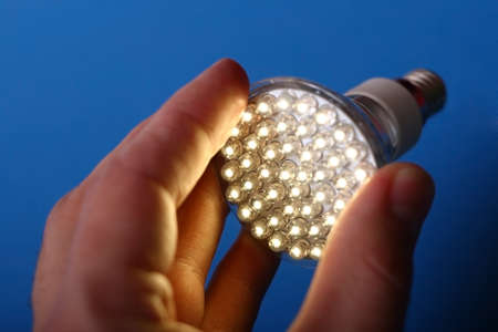 resourceful: Newest LED light bulb technology is 90% more efficient than incandescent or halogen bulbs